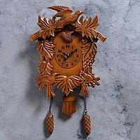 """Часы настенные, серия: Маятник, с кукушкой """"Лесные жители"""", 38х20 см"""
