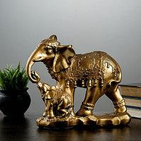 """Фигура """"Слон со слонёнком"""" 15х27х27 см"""
