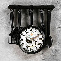 """Часы настенные, серия: Кухня, """"Повар с собачкой"""", 30х33 см"""