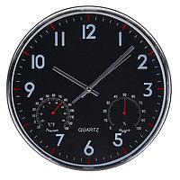 """Часы настенные, серия: Классика, """"Остин"""", с термометром и гигрометром, d=30 см, плавный ход"""