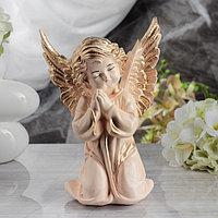 "Статуэтка ""Ангел с крыльями"" бежевая, 28 см"