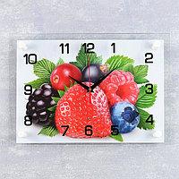 "Часы настенные, серия: Кухня, ""Ягоды"", 25х35 см, микс"
