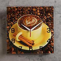 """Часы настенные, серия: Кухня, """"Кофе с корицей"""", 25х25 см, микс"""