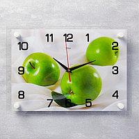 """Часы настенные, серия: Кухня, """"Яблоки"""", 25х35 см, микс"""