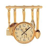 """Часы настенные, серия: Кухня, """"Столовые приборы"""" 30х33 см, плавный ход"""