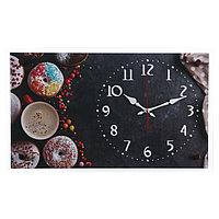 """Часы настенные, серия: Кухня, """"Пончики"""", 36х60 см"""