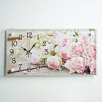 """Часы настенные, серия: Цветы, """"Розы"""", 26х52 см, микс"""