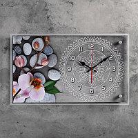 """Часы настенные, серия: Цветы, """"Спа"""", 36х60 см, микс"""