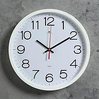 """Часы настенные круглые """"Классика"""", 30 см белые  Рубин"""