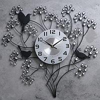 """Часы настенные, серия: Ажур, """"Весенний букет"""", 60х60 см"""