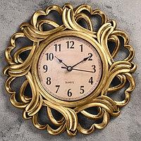 """Часы настенные, серия: Интерьер, """"Вереница"""", бронзовые, d=25 см"""