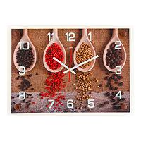 """Часы настенные, серия: Кухня, """"Специи"""", 25х35 см, микс"""