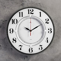 """Часы настенные, серия: Классика, """"Классика"""", 34 см стекло, белые Рубин"""