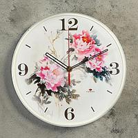 """Часы настенные круглые """"Цветы"""", 25 см"""