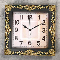 """Часы настенные, серия: Интерьер, """"Мюзле"""", бронзовые, 26х26 см микс"""