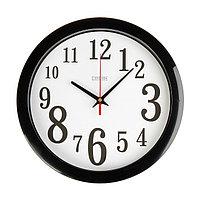 Часы настенные, серия: Классика, черный обод, 28х28 см