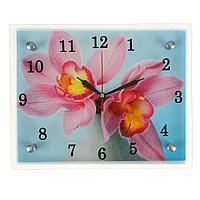 "Часы настенные, серия: Цветы, ""Цветы в вазе"", 20х25 см, микс"