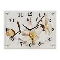 """Часы настенные, серия: Цветы, """"Орхидея"""", 30х40 см, микс"""