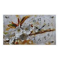 """Часы настенные, серия: Цветы, """"Цветение яблони"""", 36х60 см, микс"""