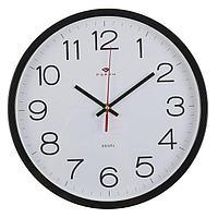 """Часы настенные круглые """"Классика"""", 30 см черные Рубин"""