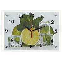 """Часы настенные, серия: Кухня, """"Лайм и лед""""25х35 см, микс"""