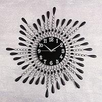 """Часы настенные, серия: Ажур, """"Фонтанчик"""", чёрные, d=70 см"""