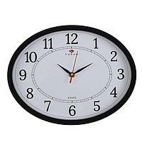 """Часы настенные овальные """"Классика"""", 20х27 см черные"""