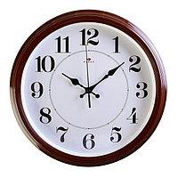 """Часы настенные круглые """"Классика"""", 35 см коричневые Рубин микс"""