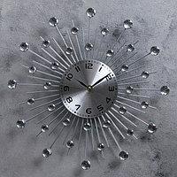 """Часы настенные, серия: Ажур, """"Кристалы"""" d=35 см"""