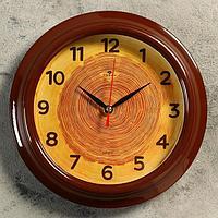 """Часы настенные """"Срез дерева"""", """"Рубин"""", 21х21 см"""
