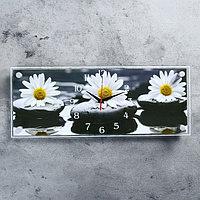 """Часы настенные, серия: Цветы, """"Ромашки"""", 50х20 см, микс"""