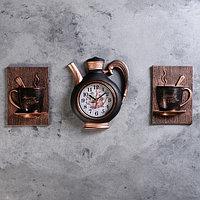 """Часы настенные, серия: Кухня, """"Сангино"""", черная медь, 26.5х24 см"""