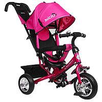 """Велосипед трёхколёсный Micio Classic, колёса EVA 10""""/8"""", цвет розовый"""