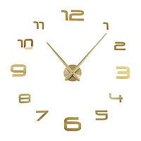 """Часы-наклейка DIY """"Акстелл"""", золотые, 120 см"""