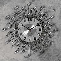 """Часы настенные, серия: Ажур, """"Кьети"""" d=50 см, d=22 см, 1 АА, плавный ход"""