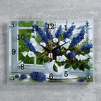 """Часы настенные, серия: Цветы, """"Цветы в вазе"""", 30х40 см"""