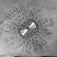 """Часы настенные, серия: Ажур, """"Рудна"""" d=70 см, d=22 см, 1 АА, плавный ход"""