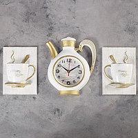 """Часы настенные, серия: Кухня, """"Сангино"""", белые, 26.5х24 см"""