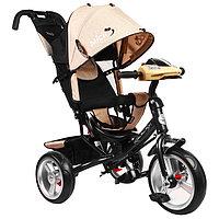 """Велосипед трёхколёсный Micio Classic Plus, колёса EVA 10""""/8"""", цвет бежевый"""