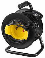 Удлинитель СВЕТОЗАР электрический с заземлением на катушке, евро, 1 гнездо, 25м