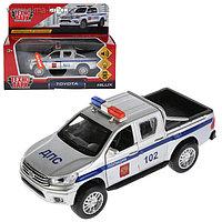 Машина металлическая, инерционная «Toyota Hilux. Полиция» 12 см, световые и звуковые эффекты