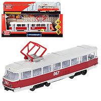Машина металлическая, инерционная «Трамвай» 18 см, световые и звуковые эффекты, открывающиеся двери