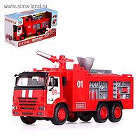 Грузовик металлический «Пожарная служба», 1:38, инерция, световые и звуковые эффекты