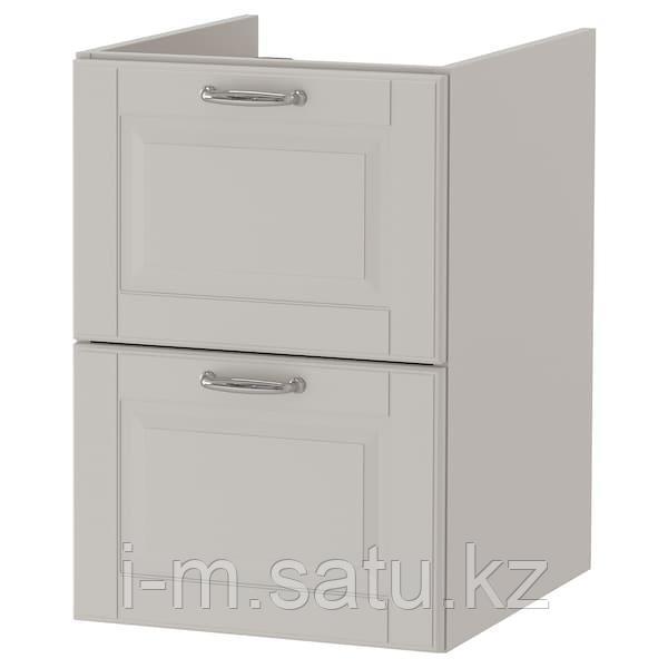 ГОДМОРГОН Шкаф для раковины с 2 ящ, Кашён светло-серый, 40x47x58 см