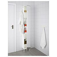 ЛИЛЛОНГЕН Высокий шкаф с зеркальной дверцей, белый, 30x21x189 см