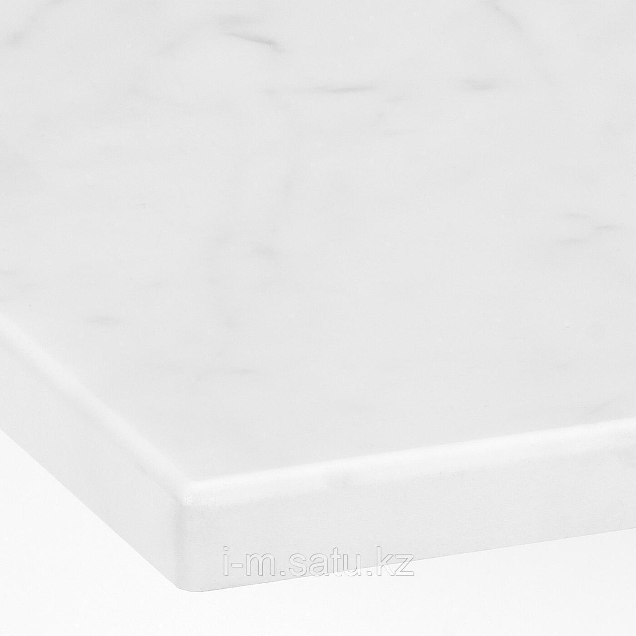 ТОЛКЕН Столешница, под мрамор, 82x49 см