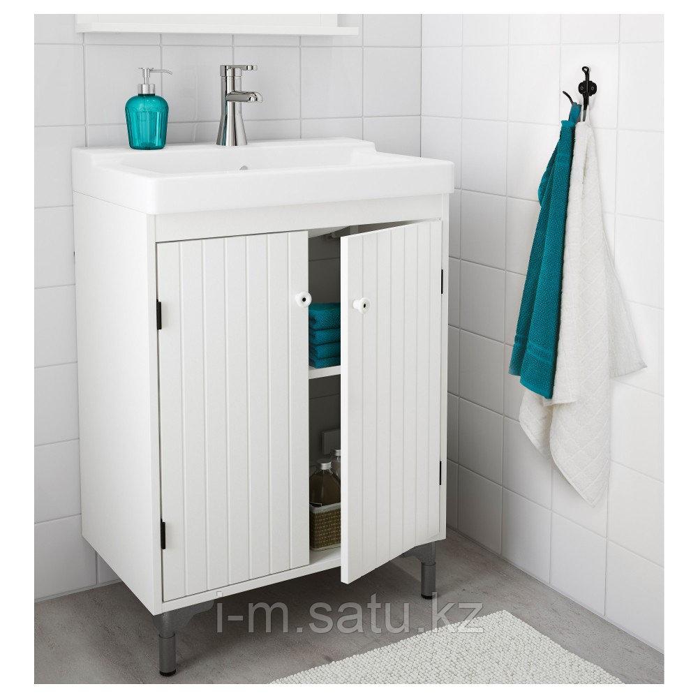 СИЛВЕРОН Шкаф под раковину с 2 дврц, белый, 60x38x68 см