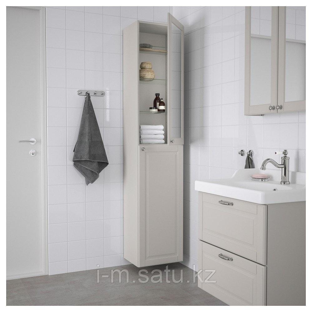 ГОДМОРГОН Шкаф высокий, Кашён светло-серый, 40x32x192 см