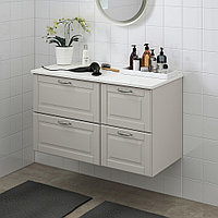 ГОДМОРГОН / ТОЛКЕН Шкаф для раковины с 4 ящ, Кашён светло-серый, под мрамор, 102x49x60 см, фото 1