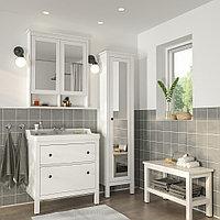 ХЕМНЭС / РЭТТВИКЕН Комплект мебели для ванной,5 предм., белый, РУНШЕР смеситель, 82 см, фото 1